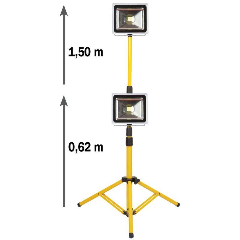 Proiettore su treppiede da cantiere 30W Ribitech PRSPOT32TTP