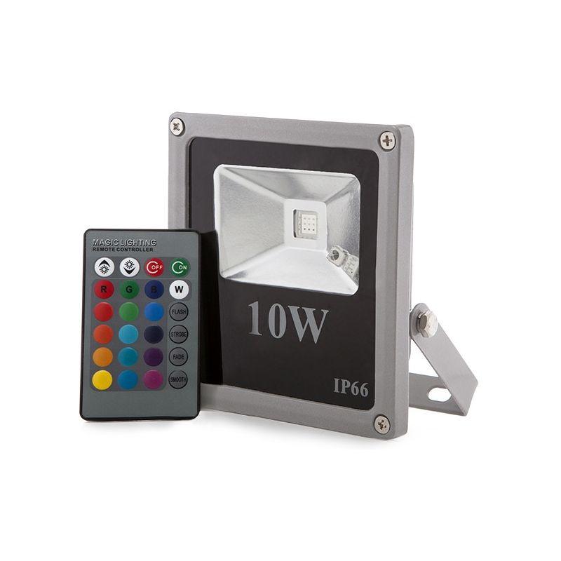 Proiettore a LED IP65 10W RGB Telecomando | RGB (HX-FL10-RGB) - GREENICE