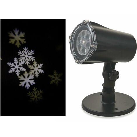 Proiettore Luci Natalizie Interno.Proiettore Laser A Led Neve E Babbo Natale Luci Natalizie Da Interno