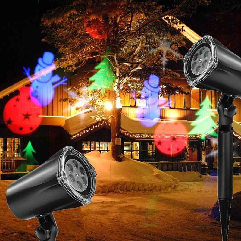 Proiettore Luci Natale Giardino.Proiettore Laser Natale Per Esterno Giardino Neve Albero Natale Stella Luci Led