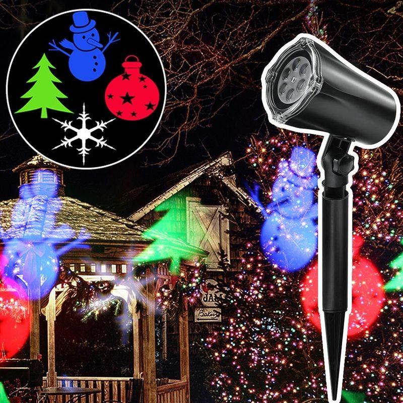 Proiettore Luci Natalizie Opinioni.Proiettore Laser Natale Per Esterno Giardino Neve Albero Natale Stella Luci Led