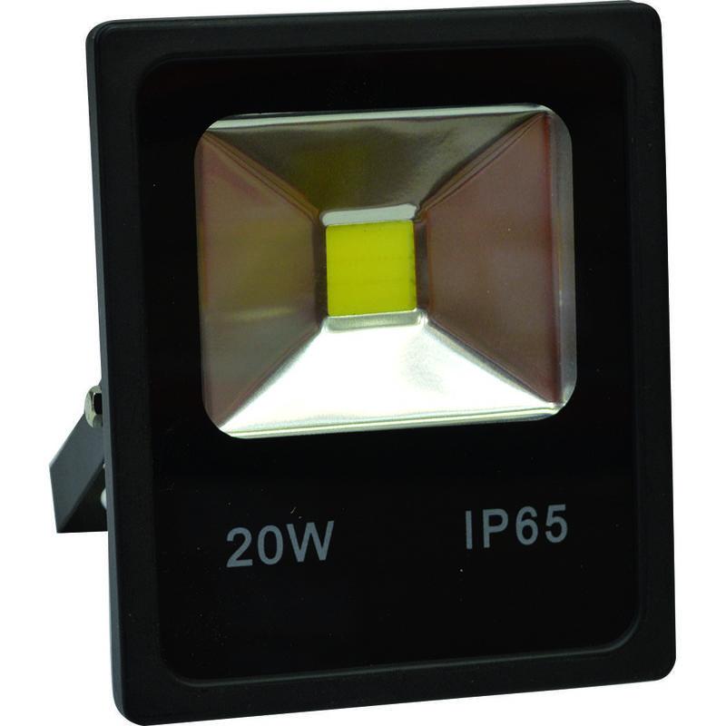 PROIETTORE LED BIANCO CALDO 6000K 20W NERO IP65 FLB20/860 - Gigra Line