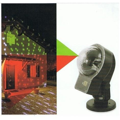Proiettore Luci Natalizie Effetto Neve.Proiettore Led Natale Per Esterno Con Telecomando Luce Verde E Rossa Effetto Neve