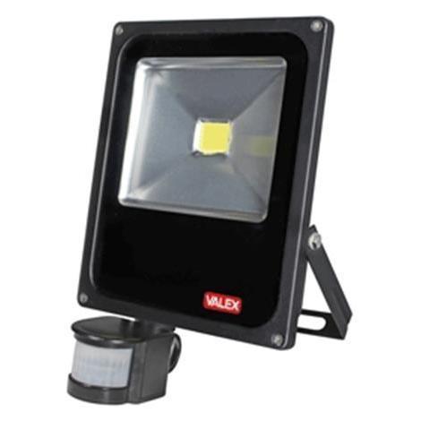 Proiettore Led Slim Con Sensore Di Movimento E Crepuscolare 50w 187w Luce Fredda 6500k Valex 1153110