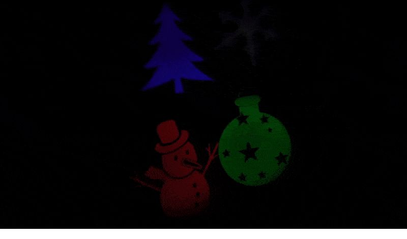 Proiettore Luci Natalizie Per Interno.Proiettore Luci Natale Interno Led Abs Albero E Pupazzo Di Neve Multicolor