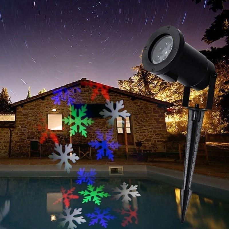Proiettore Luci Natalizie Led.Proiettore Luci Natale Per Esterno 2016 Disegni Figure Picchetto Addobbi
