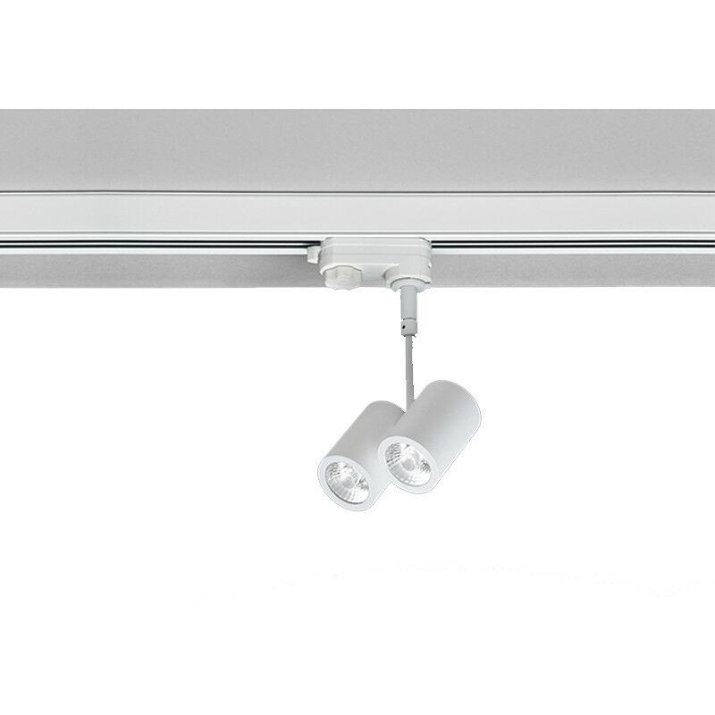 Proiettore LED 2X5W luce 3000K verniciato bianco R27/3K/40 - Nobile