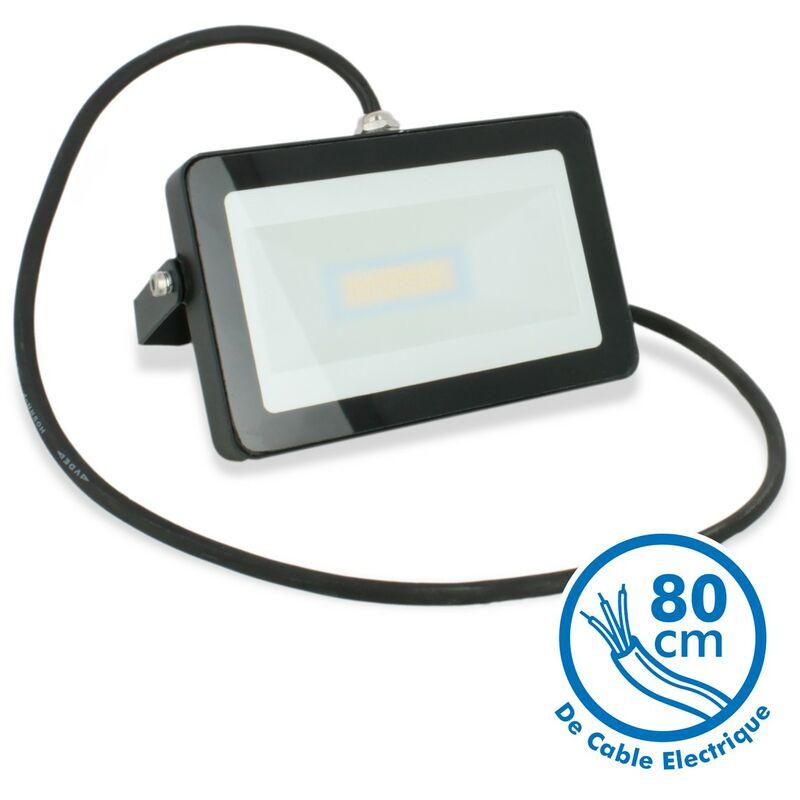 Proiettore per esterno a LED nero da 20W IP65 | Température de Couleur: Bianco caldo 2700K