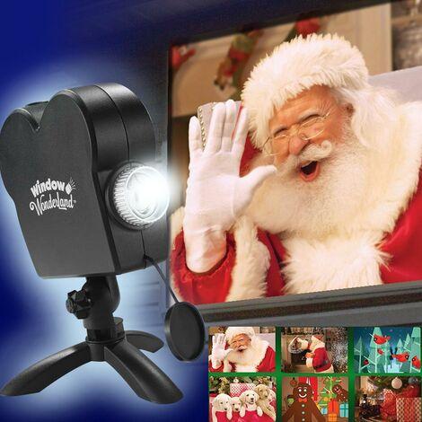 """main image of """"Proiettore per Finestra Natale Halloween 12 Video con Telo Decorazioni Natalizie"""""""