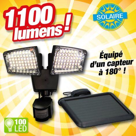 Projecteur 100 LED à énergie solaire et détecteur de mouvements
