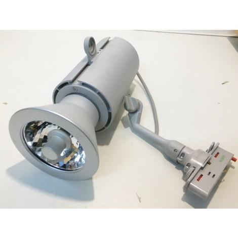 Projecteur argent déco pour rail 1 allumage avec lampe décharge 70W GX8.5 CDM-R 111 VISIO C+M cell-F FOSNOVA 2270057800