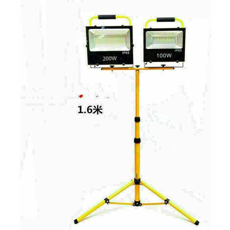 Projecteur de chantier à LED avec support réglable en hauteur pour éclairage de sécurité,50w,1pcs LED