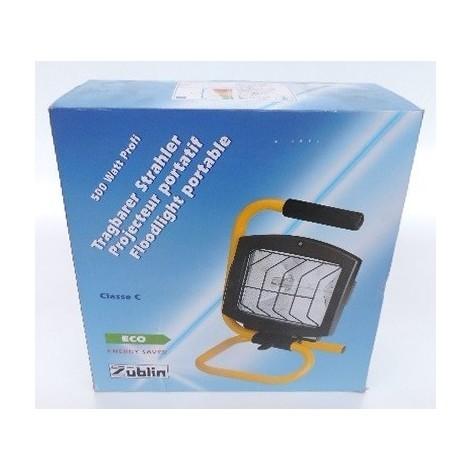 246x340x216mm 400w Halogène Noirjaune Chantier R7s Éco Avec Lampe Étanche Projecteur Portable Zublin Crayon Ip44 8211p 230v De roCBexd