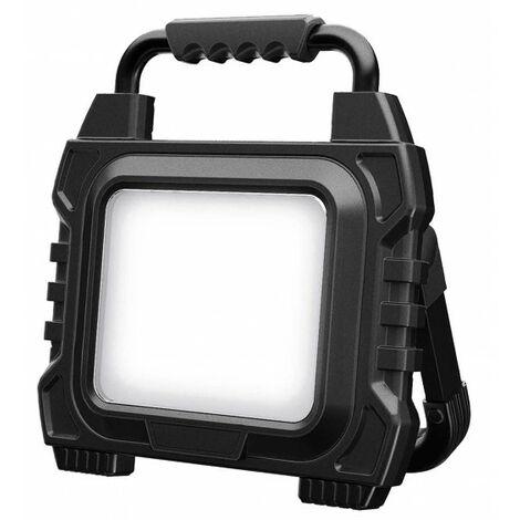 Projecteur de chantier LED 60W 2 prises 2P+T et 1 prise USB EXALIGHT