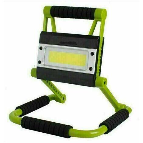 Projecteur de Chantier LED , Lampe Chantier LED, Imperméable, Chantier LED Portable, Rotation à 360°, Super Brillante, Câble