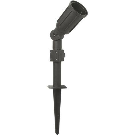 Projecteur de jardin 1x E27 sans ampoule Megatron Cappi MT70813 noir 1 pc(s)