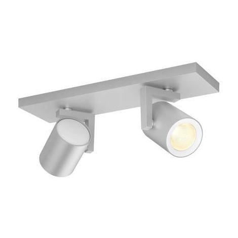 Projecteur de plafond 14 W 2x GU10 Philips Lighting Argenta 50622/48/P7 aluminium 1 pc(s)