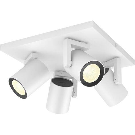 Projecteur de plafond 28 W 4x GU10 Philips Lighting Argenta 50624/31/P7 blanc 1 pc(s)