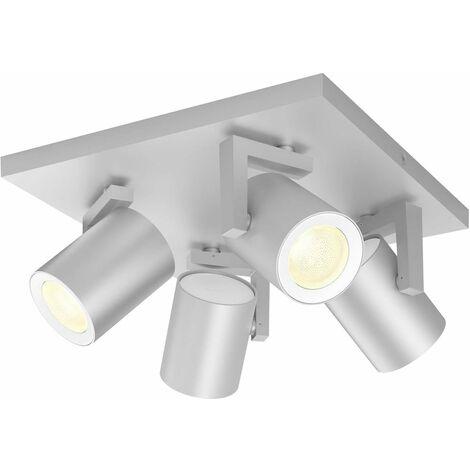 Projecteur de plafond 28 W 4x GU10 Philips Lighting Argenta 50624/48/P7 aluminium 1 pc(s)