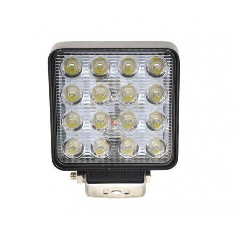 Projecteur de travail LED carré 48W - 12V - 24V
