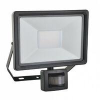 Projecteur extérieur à LED intégrée à détection 50W 4500lm noir