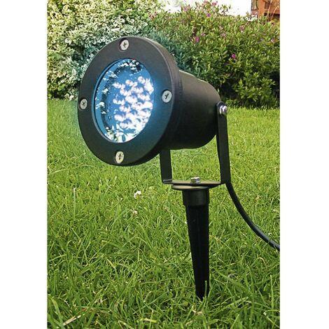 Projecteur extérieur blanc Lumihome 3 W noir