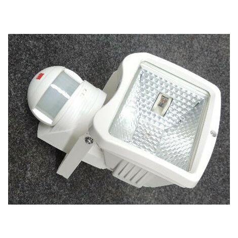 """main image of """"Projecteur exterieur halogene 150W blanc avec detecteur de presence 140° lampe R7s (78mm) 230V IP44 Luxomat FLC150 BEG 91811"""""""
