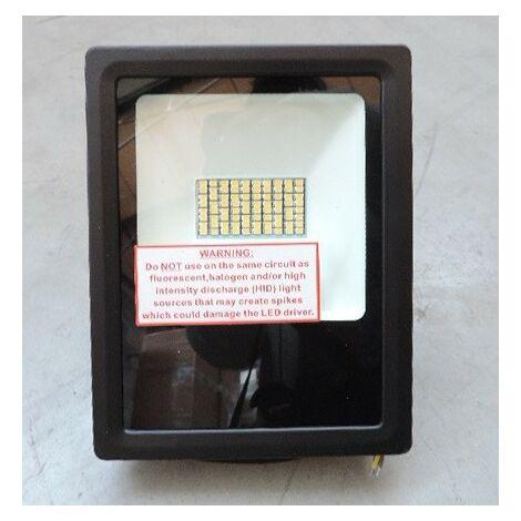 Projecteur exterieur LED 30W noir 4000K 3600lm 180x140x40mm extra-plat étanche IP66 FL-ECO AIRIS FLK30N