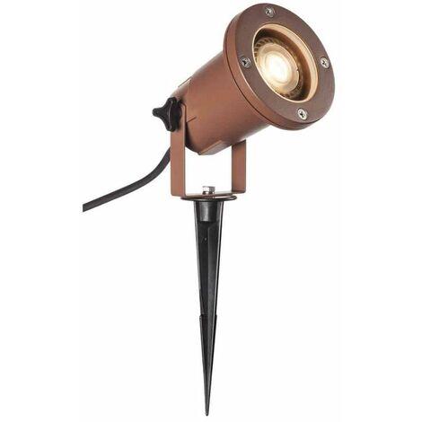 """main image of """"Projecteur Extérieur Sur Piquet Pour Ampoule LED GU10 SlV Big Nautilus Ip65 Rouille"""""""
