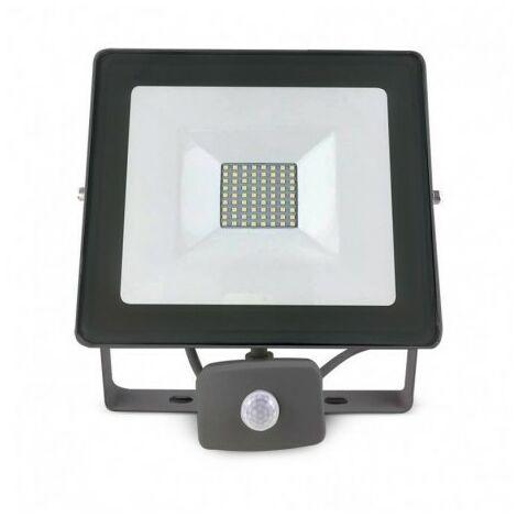 Projecteur Led Blanc Froid Détecteur Anthracite 50w450wIp65 6000°k Gris Avec kOnXZNwP08