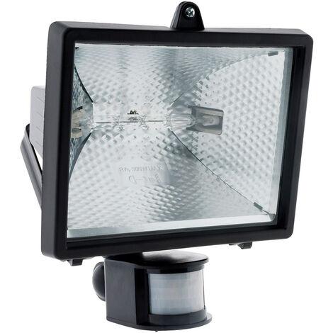 Projecteur Halogene avec detecteur - IP44 CE - 120W ou 400W / Noir ou blanc