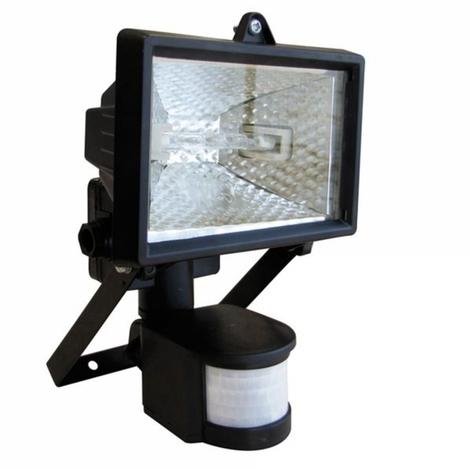 Projecteur halogène infrarouge avec détecteur 120W noir