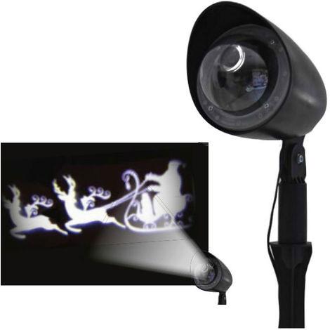 Projecteur Laser de Noël Giocoplast à Led avec Père Noël sur le Traîneau