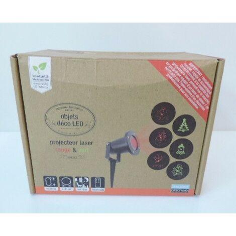 Projecteur Laser Motif Sapin Bonhomme de Neige avec télécommande Int Ext BLACHERE PRD005