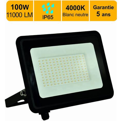 """main image of """"Projecteur LED 100W 8000 LM 4000K IP65 connexion en direct - garantie 5 ans"""""""