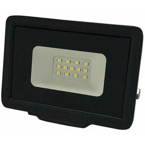 Projecteur LED 10W (50W) Noir Étanche IP65 800lm - Blanc Naturel 4500K