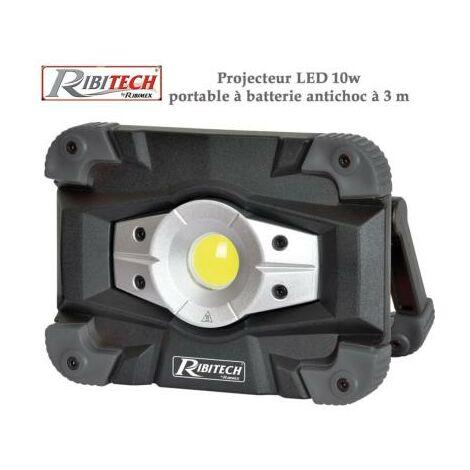 Projecteur LED 10w à batterie anti choc - aluminium et polycarbonate