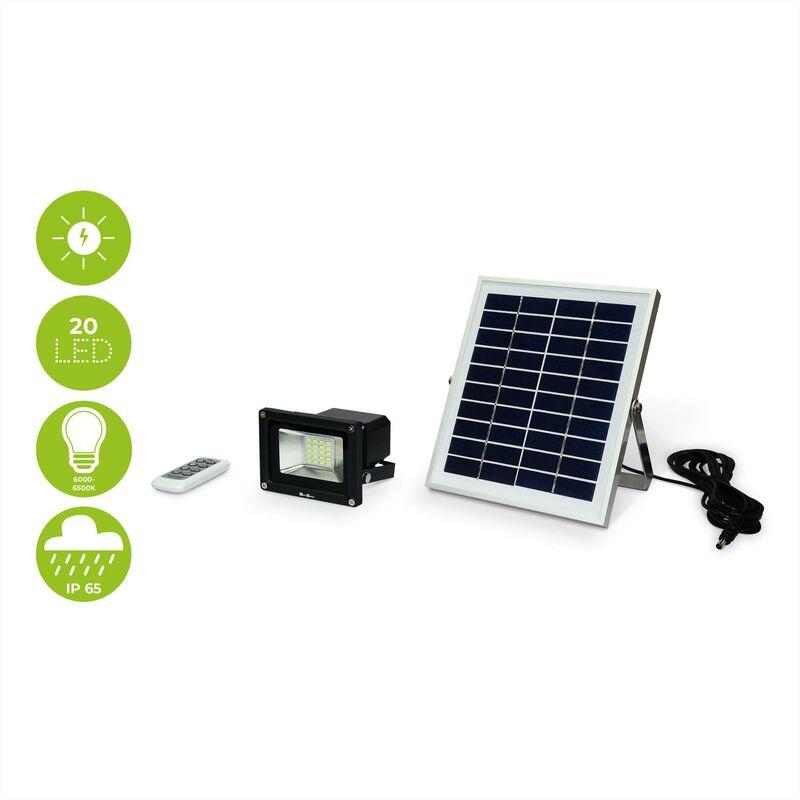 Avec La Panneau FroidLampe 10w Projecteur Autonome Résistante À Solaire Télécommandé Et Led Pluie Blanc 29WebEHIYD
