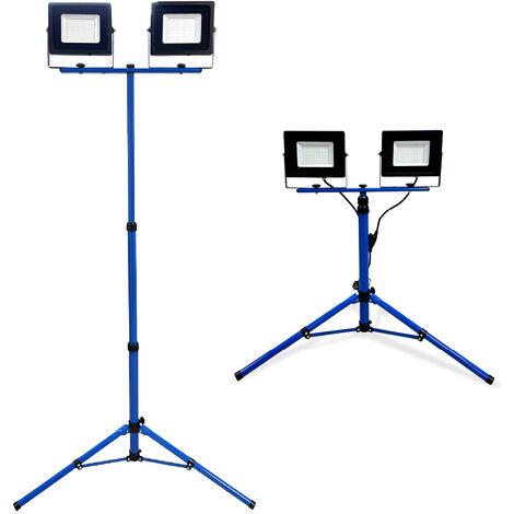 Projecteur LED 2 Têtes Trepied Télescopique - 50W IP65 - K•POWER LIGHT - Keli France - 691358