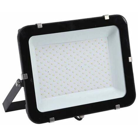 Projecteur LED 200W (eq 1200W) Noir 24000lm IP65 - Blanc du Jour 6000K