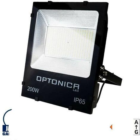 Projecteur LED 200W Noir étanche IP65 18000lm (1600W) - Blanc du Jour 6000K