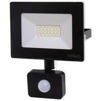 Projecteur LED 20W Noir détecteur de mouvement IP44 | Température de Couleur: Blanc froid 6000K