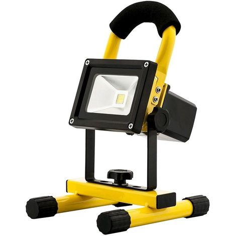 PROJECTEUR LED 20W RECHARGEABLE PORTABLE - 6000K LUMIERE DU JOUR