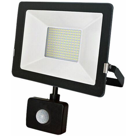 Projecteur LED 30W Detecteur Mouvement Classic Noir 6000K