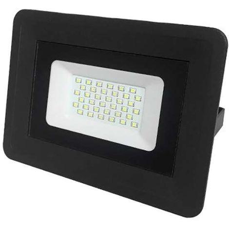 Projecteur LED 30W extra plat IP65 (150W) étanche noir Optonica