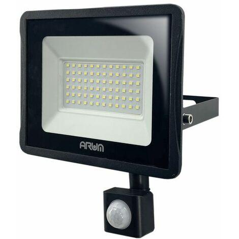 Projecteur LED 30W Noir détecteur de mouvement