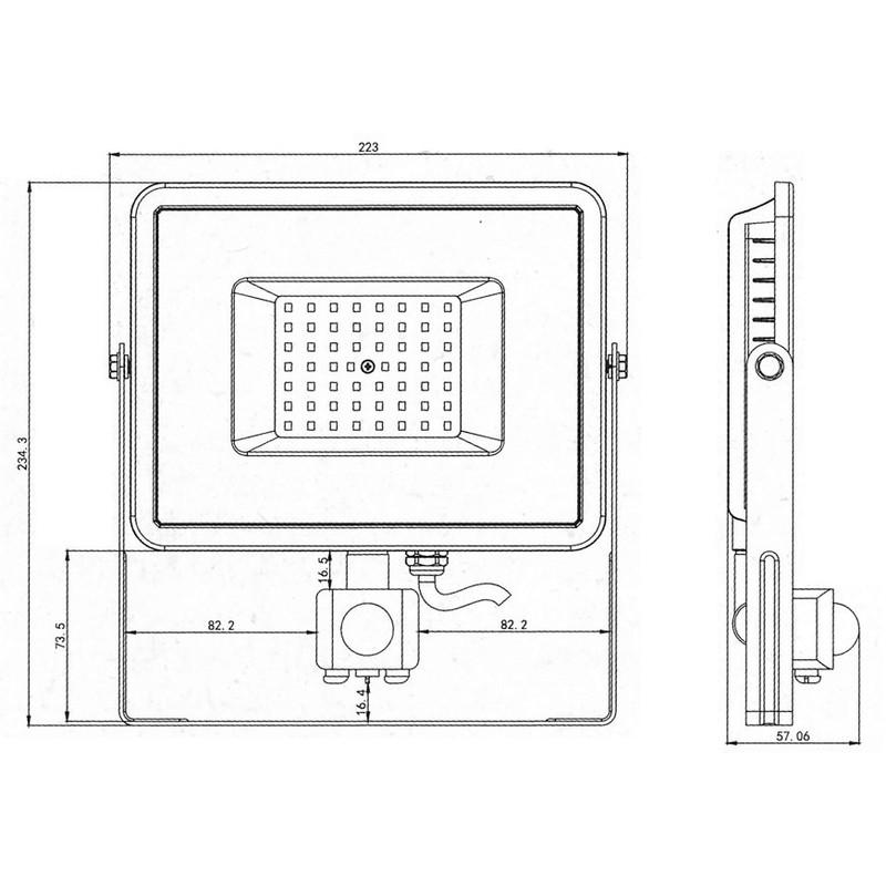 Projecteur De MouvementFroid 50w Led Blanc 6400k Detecteur e2H9YWDIE