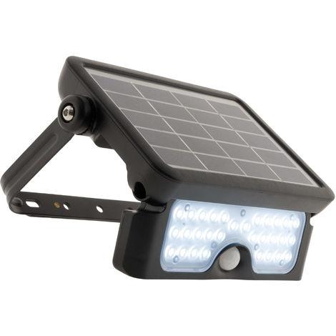 Projecteur LED 5W avec panneau solaire et détecteur intégrés