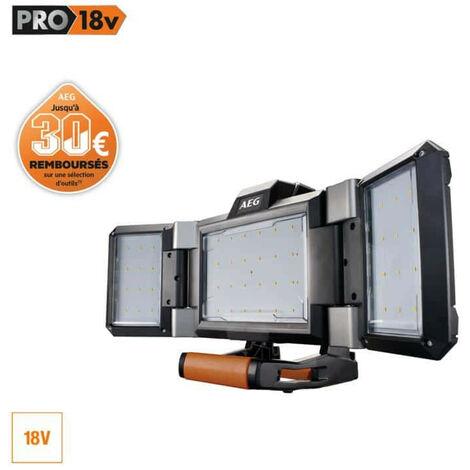 Projecteur LED AEG triple panneau 18 V Prolithium-ion - sans batterie ni chargeur - BPL18-0