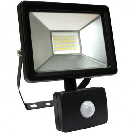 Parfait Projecteur LED Avec DETECTEUR SLIM GEKKO AREV 10 W NOIR